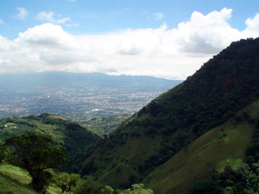 View of San Jose from the mountains of Escazu